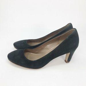 ECCO Pump Shoes Black Block Heels 7-7.5 EU 38